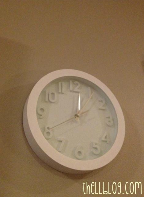 1 white target clock