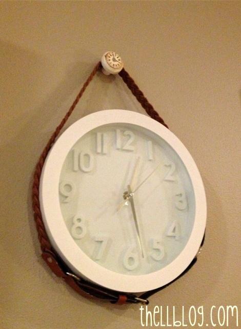 3 belted clock