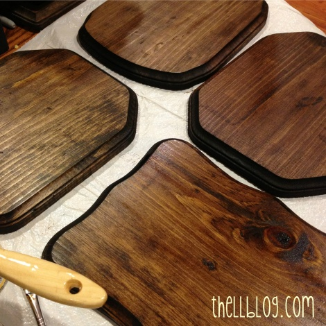 3 stained chalkboards