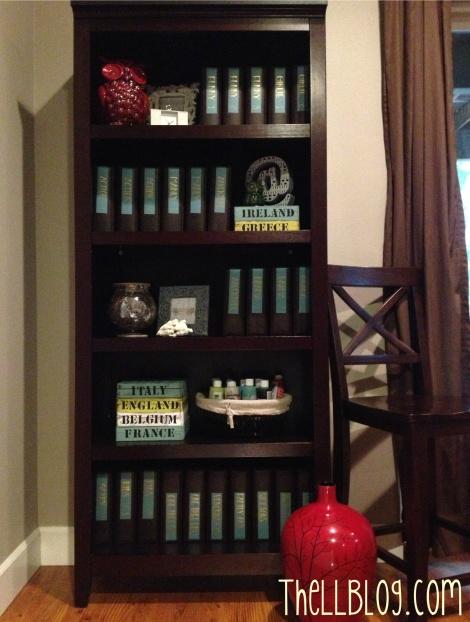 dvd organized bookcase