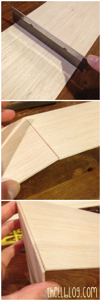 8. cutting balsa wood