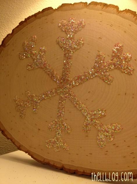 8 diy glitter snowflake