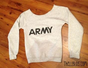 Army Sweatshirt Altered