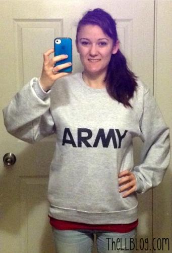 Army Sweatshirt Before