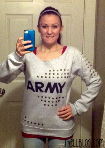 . Army Sweatshirt Makeover Finished