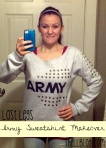 Army Sweatshirt Makeover Title