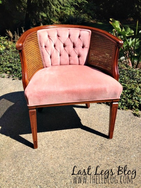 Ugly Pink Chair Before