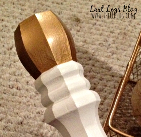 IKEA makeover gold toes 6