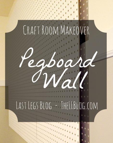 Pegboard wall .