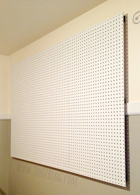 Pegboard Wall Installed